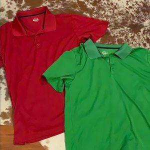 Green and red shirt